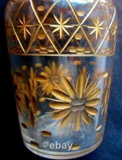 Fine Gold Crystal-scented Perfume Bottle, Art Deco Nouveau, 18 CM