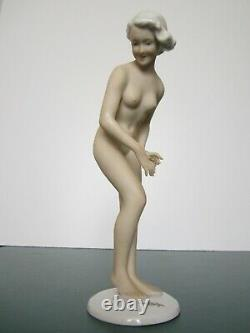 Former Figure Pin Up Bather Art Deco Germany Porcelain/nu Feminin/woman