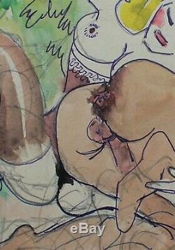 Francis Of Albignac, Drawing, Erotica, Sex, Woman, Caricature, Erotic