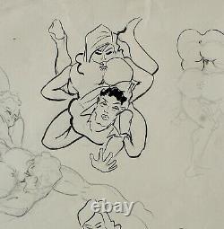 François D'albignac, Drawing, Erotica, Sex, Woman, Caricature, Erotic