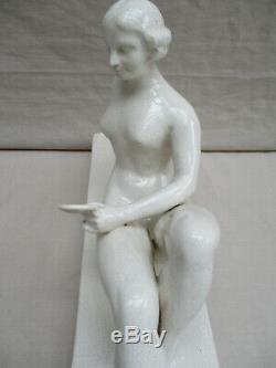 Francois Santa Ceramic Cracks Woman In Mirror