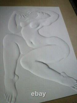 Gauffrée Sculpture Woman Art Deco By Daniel Druet Perfect State 'great Libretto