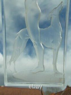 Glass Nightlight Art Deco Josheco Nude Woman Lalique Vase Sculpture Style