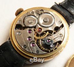 Gorgeous Solid Gold + Diamond Ladies Watch Circa 1930 Gold Watch Diamond