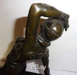 Gorgeous Statue Sculpture Bronze Woman Art Deco Dancer Style Chiparus