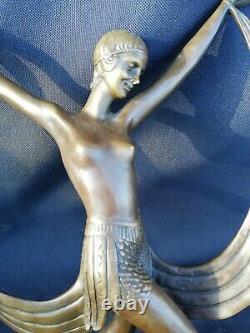 Grand Bronze Ancient Fayral/1930/pierre Le Faguays/bronze Woman/bronze Art Deco