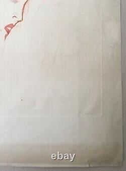 Gravure Originale Aquatinte Portrait Face Femme Rousse Marcel Vertès 1st Condition
