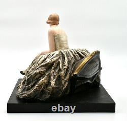 Guido Cacciapuoti Italy Art Deco Sculpture Woman Italian Lady Sculpture