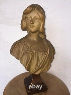 Gustave Van Vaerenbergh (1873-1927) Bust Terracotta Woman Art Nouveau