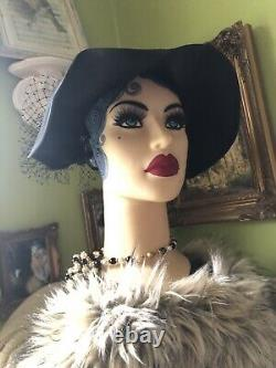 Head Model Woman Style 1900 1920 Belle Epoque Marotte Art Deco Shabby