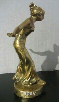 Henri Fugere, Oriental Woman, Bronze, Statue Art Deco Car Mascot