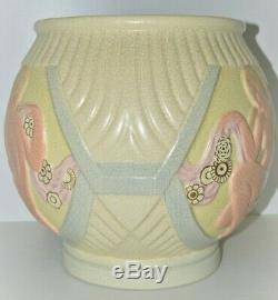 Important Pot Cover Art Deco Earthenware Craquelée Naked Women Orchies Lejan 1930
