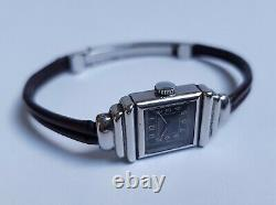 Jaeger Lecopter Uniplane Steel Watch Circa 1940 407 Art Deco Vintage