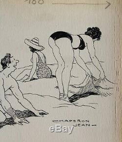 John Hood, Drawing, Humor, Eroticism, Erotica, Woman, Naked Woman, Caricature