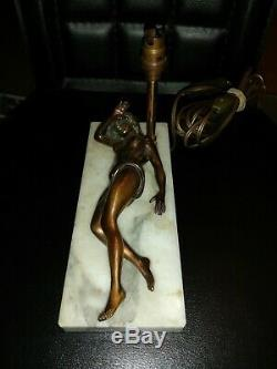 Lamp Art Deco Naked Woman Erotica Curiosa Cup Cigar