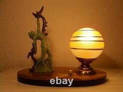 Lamp Night Art Deco 1950 Sculpture Statuette Style Max Glassmaker