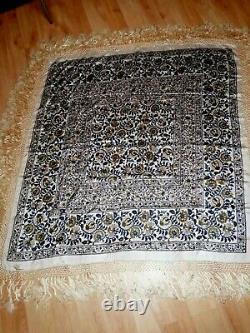 Large Chale Or Natural Silk Table Top Art Deco