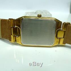 Laurent Dodane Paris Quartz Watch Women Date / 18k Gold Plate