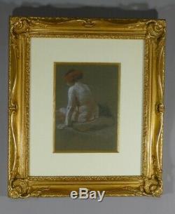 Léon Jouhaud, Naked Portrait Of A Woman, Pastel Art Deco Era