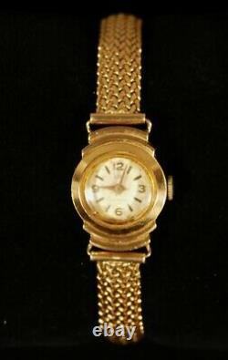 Lip Watch All In Gold Massive Model Of Woman Art Deco 32 Gr