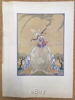 Lithography Elegant Art Deco Woman Aleksander Rzewuski Russian Polish 1920s