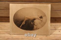 Louis Icart (1888-1950) Art Deco Nude Woman Engraving Original 1928 Signed Erotics Eve