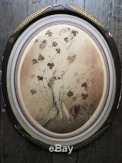 Louis Icart Original Lithograph Signed Midinette Portrait Of Woman Grape Wine