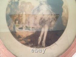 Louis Icart The Loyalty Grande Lithography Original Color Art Deco Woman