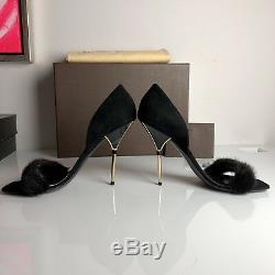 Louis Vuitton Marc Jacobs Mink Fur Vendette High Heels Dita Von Teese Art Deco