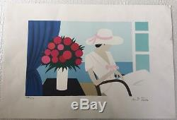 Maria-teresa Torres The Woman With A Hat- Lithography Signed 250ex-vintage1956