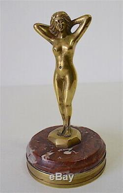 Mascot Cars Amilcar Female Body Art Deco Bronze Signed Veyrard 1925
