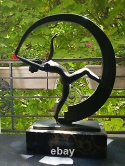 Max Le Verrier First Editions Dancer Art Deco Bacchanal Woman Nue Au Ruban