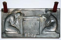 Medal, Plaque Art Deco, Edite By La Gerbe D'or Paris, Raoul Lamourdedieu, Female