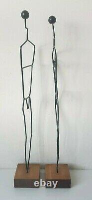 Metal Wire Sculpture Men's Men Laurids Lonborg Made In Denmark Ikea Vintage