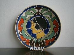 Murale Plate Art Deco 1926 Profile Women's Fashion Ceramic Emaille Ancient