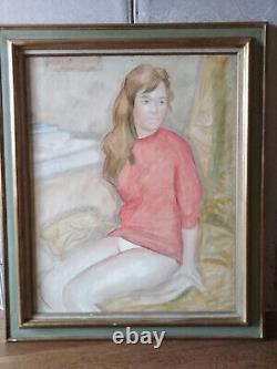 Naked Painting Portrait Young Woman