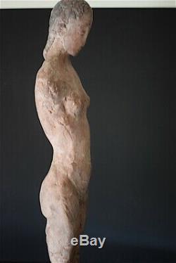 Naked Woman Statue Concrete Terracotta Art Deco Modern Art XX 20th 1951 64 CM