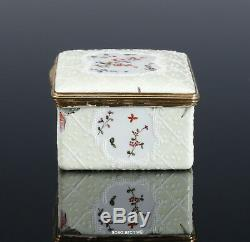 Neat Snuffbox Porcelain 1780 Portrait A Woman Relief Decoration