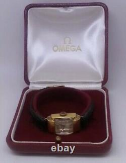 Nice Small Mechanical Omega Watch From Art Deco Collection With Original Box