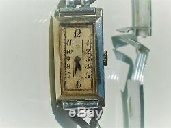 Nice Watch Women Former Art Deco Omega Or White 18k 750/1000 °