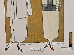 Niceas Mousko Albert Jarach Gravure Paul Chambry Carha Woman Fashion Art Deco 1930