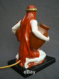 Night Light Burns Perfume Woman Oriental Art Deco Vintage Perfume Lamp Sculpture