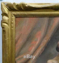 Nude Portrait Of Woman French School Of The Twentieth Century Oil On Canvas Art Deco