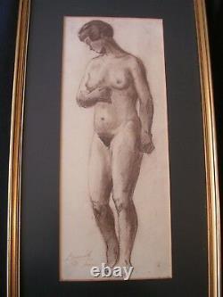 Nude Woman Drawing Study School Of Paris Around 1930
