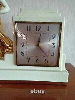 Odyv Clock In Ceramics Women's And February's Art Deco 1920