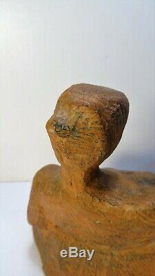 Old Earth Sculpture Test Fired Art Deco Woman Resting