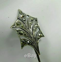 Old Jewelry Hairpin Silver Art Deco Vintage 30's