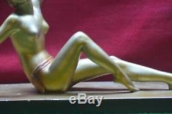 Old Statue Plaster Woman Nude Salvator Melani Decor Cheminée Art Deco No Bronze