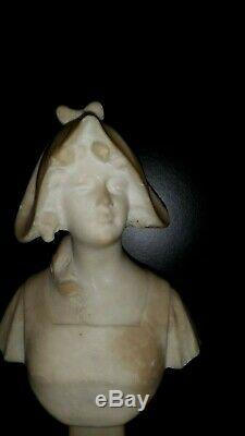 Old Statue Sculpture Statuette Young Girl Woman Marble Art Deco New 27