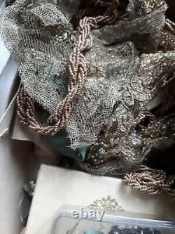 Old Textile Costume Old Embroidery Embroidery Silk Art Deco Lanvin Lesage 20th